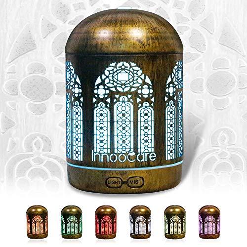 Aroma Diffuser Öl Luftbefeuchter Ultraschall Humidifier Goldbronze LED mit 7 Farben für Babies Kinderzimmer, Auto, Wohnzimmer, Schlafzimmer, Büro, Yoga, Spa, Raum usw