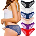 6-Pack Kingfung Women's Invisible Seamless Half Back Coverage Panties