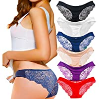 6-Pack Kingfung Women's Invisible Seamless Half Back Coverage Panties (Assorted Colors)