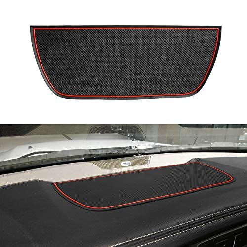 Dashboard Mats Cover Interior Liner Car Dash Rubber Anti-Slip Liner Mats for Dodge Ram Pickup 1500 2500 3500 2011-2019 (New Updated Red)