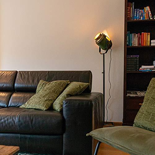 QAZQA Retro/Vintage Lámpara de pie industrial bronce/verde 140cm - BYRON Metálica Otros Adecuado para LED Max. 1 x 40 Watt