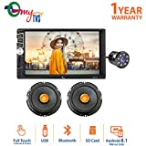 myTVS 7inch Car Double din Touch Screen Stereo Player with Bluetooth & Mirror
