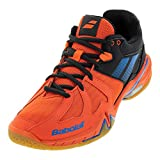 Babolat Mens Shadow Spirit Tennis/Badminton/Racquetball/Squash Indoor Court Shoes, Black/Red (7 US)