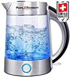 Pohl Schmitt 1.7L Electric Kettle with Upgraded 100% Stainless Steel Filter, Inner Lid & Bottom, Glass Water...