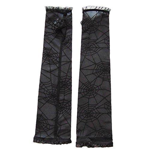 Partybob Fingerlose Spinnweben-Handschuhe - Hexenhandschuhe
