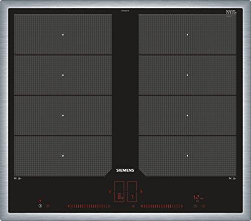 Siemens EX645LXC1E plaque Noir Intégré Plaque avec zone à induction - Plaques (Noir, Intégré, Plaque avec zone à induction, Vitrocéramique, 2200 W, 3300 W)