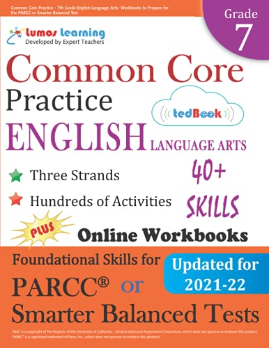 Common Core Practice 7th Grade English Language Arts Workbooks To Prepare For The Parcc Or Smarter Balanced Test Ccss Aligned Ccss Standards Practice Volume 9