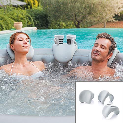 Comfort Set: 2xNackenkissen + Gertränkehalter für alle BRAST NetSpa Whirlpools