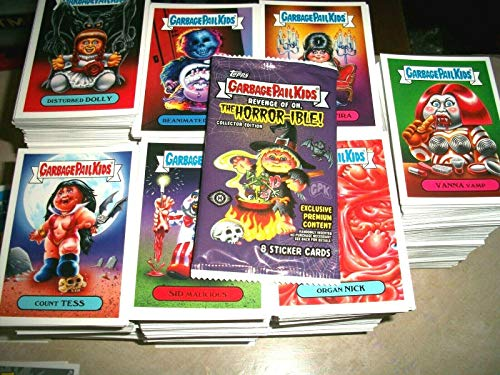 2019 GPK Revenge OH Horror-IBLE Lot of Thirty Stickers + One Black Light Card