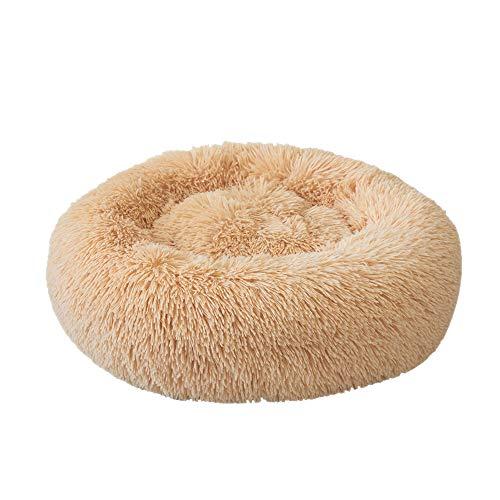 Festnight Sammy Honden- en kattenbed, rond, pluche kattenbed, hondenhuis, puppy kussen, draagbaar, warme zachte comfortabele hondenmand