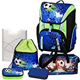 Soccer Champ - Football Fußball - Schulranzen-Set TOOLBAG SMART Schneiders 6teilig mit SCHULSPORTTASCHE, FEDERMAPPE und HEFTBOX - 78321-070