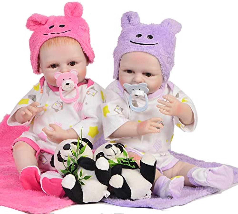 Reborn Baby Doll Simulation Silikon Vinyl Handgemachte Realistische 16 Zoll 42 cm Spielzeug Mdchen Sicherheit Getestet Für Alter 3,Twins