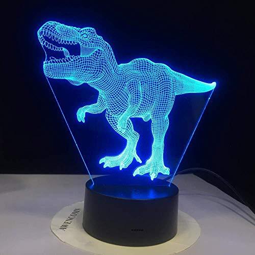 3D Symphony Light Luz De Noche Bombilla De Dinosaurio Regalo De Niño Tacto Romántico Holi 7 Cambio De Color Regalo De Fiesta De Navidad