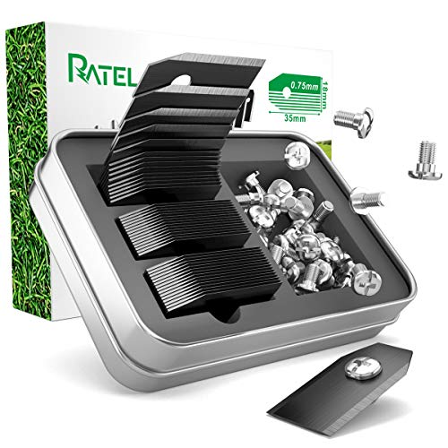 Titan Klingen, RATEL 45 pcs Automower Messer Titan Ersatzklingen aus mit Anti-Rost-Titanbeschichtung und Rostfreie schwere Schrauben, passen für 105,310,315,320,420,430x...