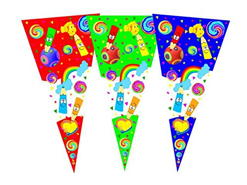 Lote de 300 Bolsas de Cono Lápices para Golosinas y Caramelos Complementos. Juguetes y Regalos Baratos para Fiestas de Cumpleaños, Bodas, Bautizos, Comuniones y Eventos.20 x 40 cm (Azul)