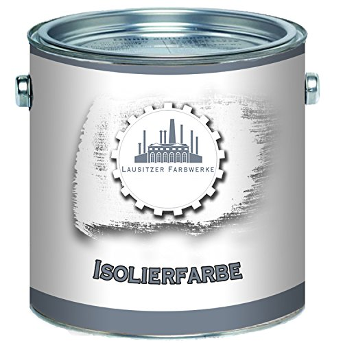 Lausitzer Farbwerke Isolierfarbe in Weiß Sperrgrund Nikotinfarbe Deckanstrich Nikotinsperre (2,5 L)