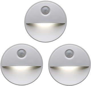 Dolloress Mini 2 LED Beads Motion Light Night Bed Light for Entrance Door Bathroom Pathway Home Garden Auto PIR Sensor Bat...