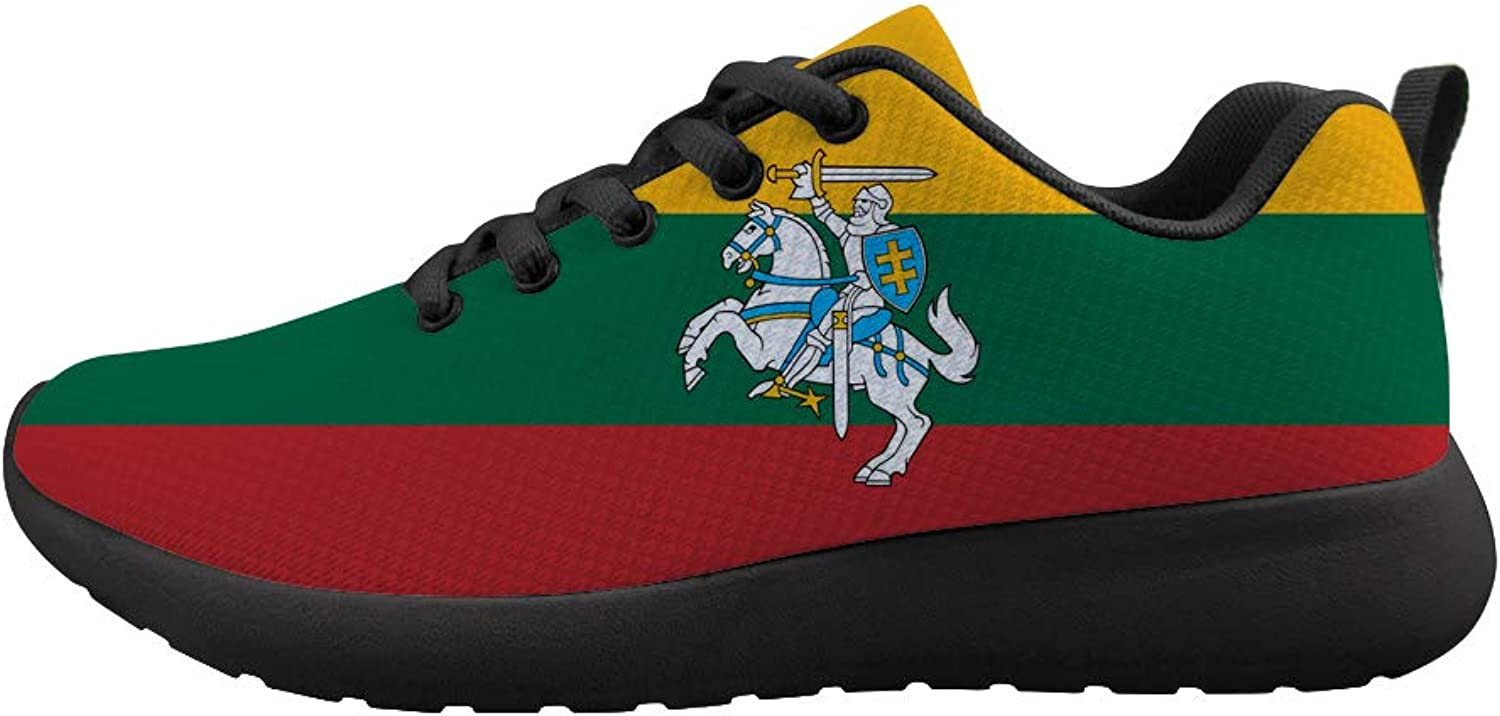 Owaheson Cushioning Sneaker Trail Running shoes Mens Womens Lithuania Flag National Emblem