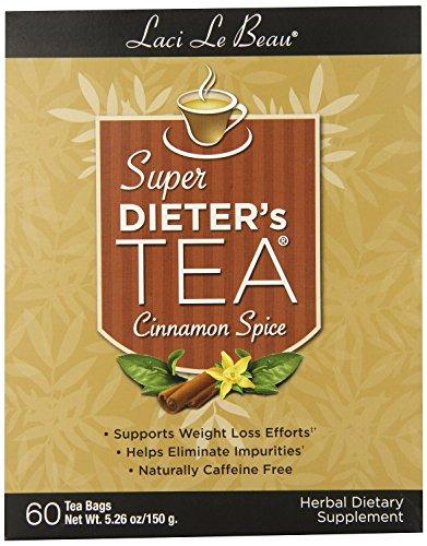 Laci Le Beau Super Dieters Cinnamon Spice Tea  60 bags per pack  3 packs per case