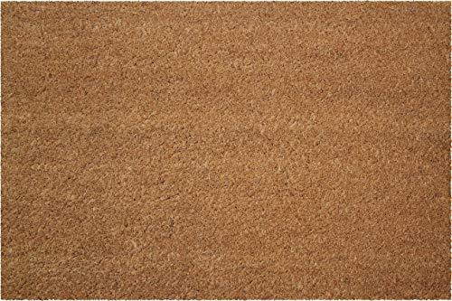 ID Mat Fußmatten Teppich, natürliche Kokosfasern auf PVC-Sohle, Beige, 60 x 40 cm