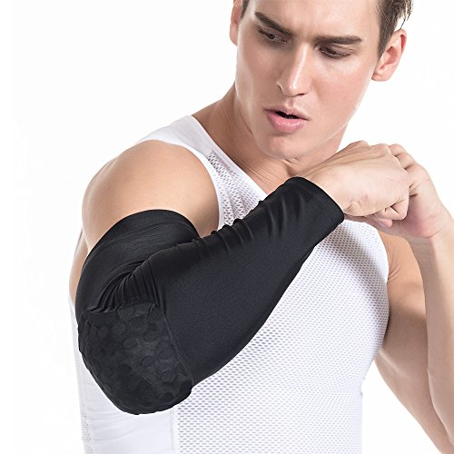 DGXINJUN Compression Sleeve Elbow Pads Crashproof Honeycomb Arm Pad Compression Sleeve Protector Gear
