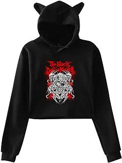 The Black Dahlia Murder Womens Cat Ear Hoodie Sweater Cotton Long Sleeve Tee Shirt