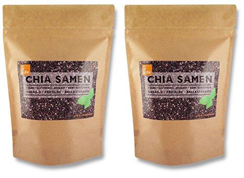 Chia Samen ChiaDE 2kg / 2000g (1er Pack 2x1kg). Chiasamen von Hochwertige Qualität für Superpreis