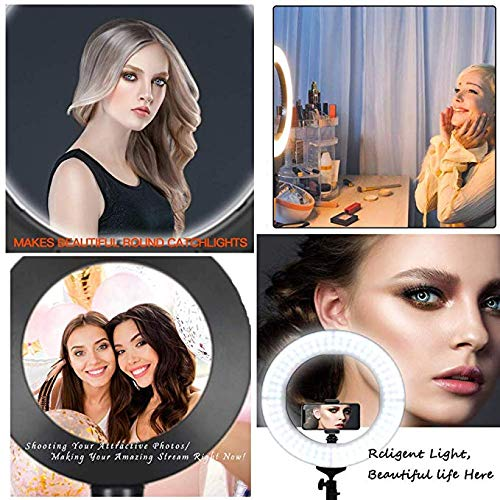 with Tripod and Mobile Phone Holder ZTCWS Soft Light Ring Light for Live//Makeup Multifunctional Shooting Light for Video//Photography Various Smartphones