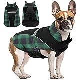 Manteau d'hiver pour Chien - Réversible - Coupe-Vent - Réfléchissant - Vêtement pour Chiots - Vêtement Confortable pour l'extérieur et l'intérieur - pour Chiens de Petite, Moyenne et Grande Taille