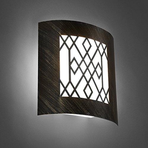 QAZQA Rustique Applique Murale d'extérieur moderne brun rouille IP44 - Emmerald Classic Plastique/Acier inoxydable Blanc,Brun rouille Rectangulaire E27 Max. 1 x 40 Watt/Jardin/Luminaire/Lum