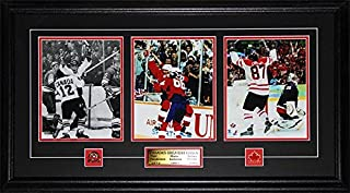 Midway Memorabilia Paul Henderson Wayne Gretzky Sidney Crosby Canada's Greatest Goals 3 Photo Frame