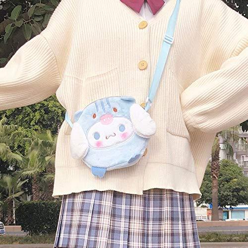 Engpai Precioso Japón bebé de peluche bolsa suave lindo hombro bolsos kawaii perro bolsa regalos para niñas loli blanco