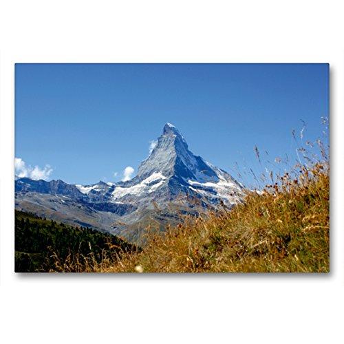 Premium Textil-Leinwand 90 x 60 cm Quer-Format Faszination Matterhorn   Wandbild, HD-Bild auf Keilrahmen, Fertigbild auf hochwertigem Vlies, Leinwanddruck von Susan Michel