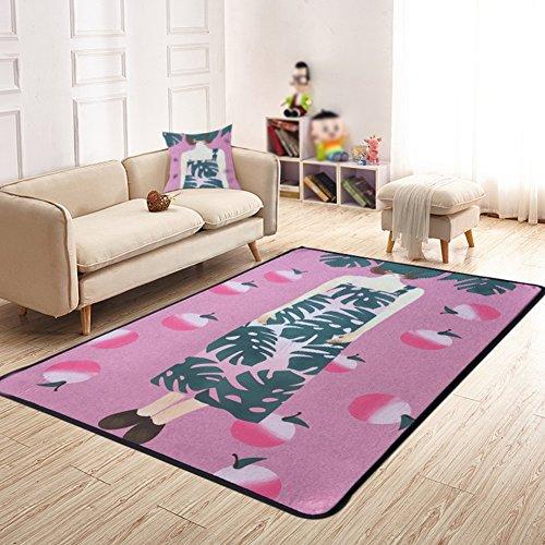 LiuJF Tapijt, roze meisjes kamer woonkamer slaapkamer restaurant studio trap garderobe tapijt huishouden mat gemakkelijk te reinigen lengte 80-140 cm 140 * 200CM roze
