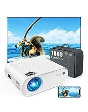 "Mini Beamer, WiFi Bluetooth Beamer Projektor, Beamer 7000 Lumen Full HD 120"", Support 1080P Full HD Multimedia-Geräten 【Energieeffizienzklasse: A+++】 (Weiß)"