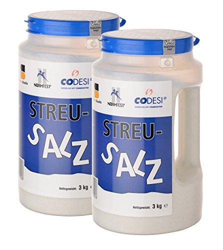 dress&safe Streusalz 2 x 3 kg (=6 kg) in Streukanne