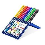 ステッドラー 色鉛筆 12色 三角軸 油性色鉛筆 エルゴソフト 157 SB12