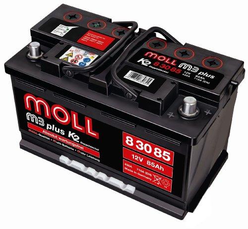 Moll M3 Plus K2 Doppeldeckel 83085 85Ah (710A Kälteprüfstrom)
