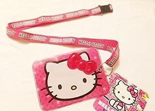 Hello Kitty Lanyard keychain with ID Badge Holder