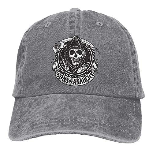 maichengxuan Sons of Anarchy Baseballmütze, bestickt, verstellbar, Cowboy-Kappe