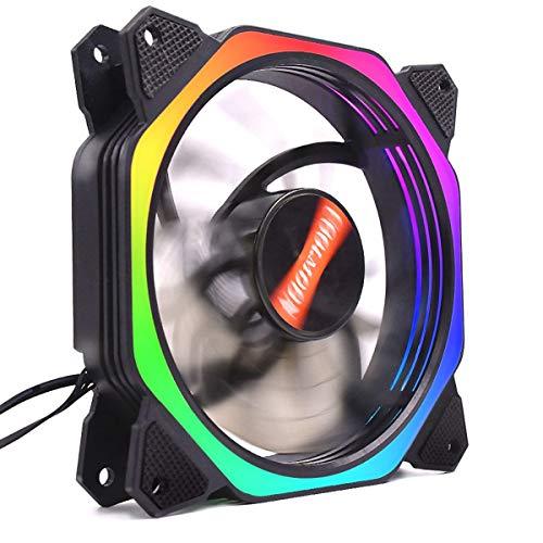 Ventilador de enfriamiento de la Copa RGB para la Caja de la PC, el Ventilador de enfriamiento de Alta Velocidad de la computadora Hudson Studio