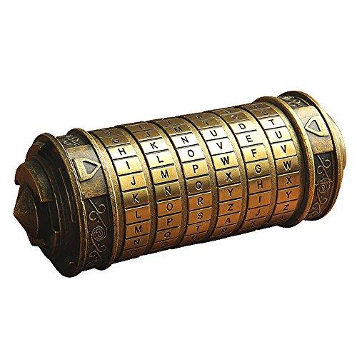 ANBIWANGLUO Da Vinci Code Mini Cryptex Rätsel Valentinstag Weihnachten Geburtstag Geschenke (Bronze)