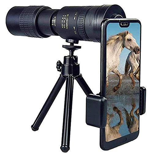 Con soporte para teléfono inteligente y trípode, 4K 10 300X40Mm Super Teleobjetivo Zoom Monocular Telescopio Portátil Nuevo, Zoom Telescopio Impermeable Para observación de aves Monocular de alta pot