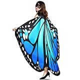 YXwin Halloween Costumes for Women Butterfly Wings Bluegreen for Adult Women