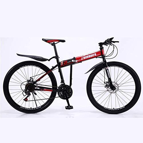 Find Bargain Xiaochongshan Mountain Bike 30 Speed Steel Frame 26 Inches 3-Spoke Wheels Dual Suspensi...
