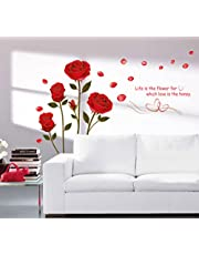 Decals Design 'Romantic Rose Flowers' Wall Sticker