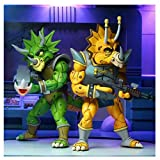 NECA - Figurine TMNT Tortues Ninja Cartoon - 2-Pack Zorax & Zork 18cm - 0634482541593