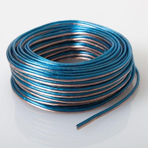 Audiotek - AT-SPW18GA/50B - Car Vehicle 18 Gauge Speaker Wire - 50 Feet Blue