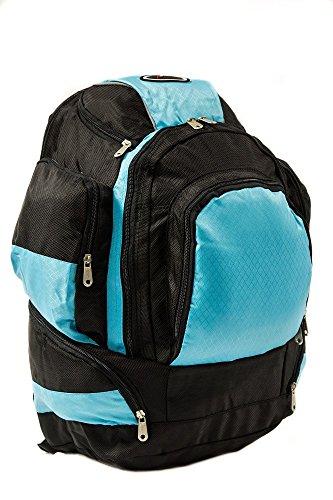 Everest Unisex-Erwachsene Xtreme Multi-compartment Superpack Rucksack, Turquoise/Black, Einheitsgröße