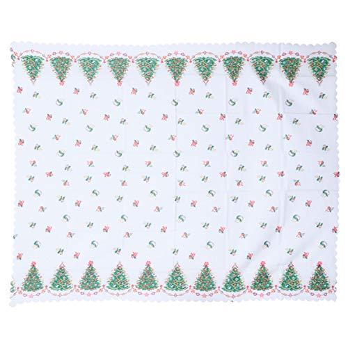 VORCOOL Mantel Rectangular navideño con Tela Decorativa para Mantel (Verde)